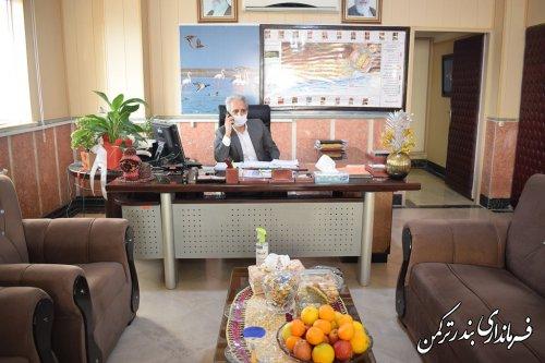 ملاقات مردمی فرماندار شهرستان ترکمن بصورت تلفنی برگزار شد