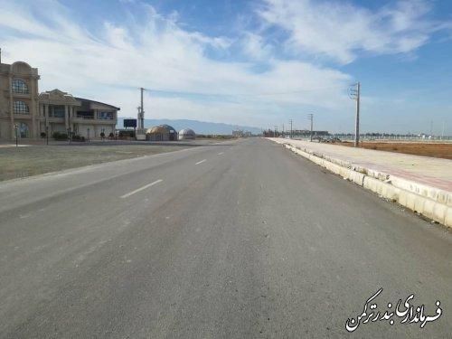 بازدید فرماندار شهرستان ترکمن از نقاط پرترافیک شهرستان