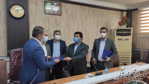 بخشدار مرکزی شهرستان ترکمن معارفه شد