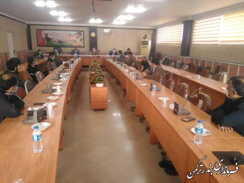 جلسه کارگروه تخصصی اجتماعی، فرهنگی، سلامت و خانواده شهرستان ترکمن برگزار شد