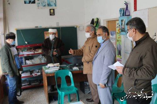 بازدید فرماندار ترکمن از بازار، اصناف، بانک ها و دفاتر ثبت اسناد و ازدواج شهرستان