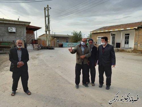 بازدید بخشدار مرکزی ترکمن از روستاهای تابعه شهرستان