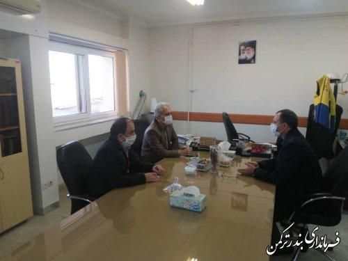 بازدید سرزده فرماندار ترکمن از اداره گاز شهرستان