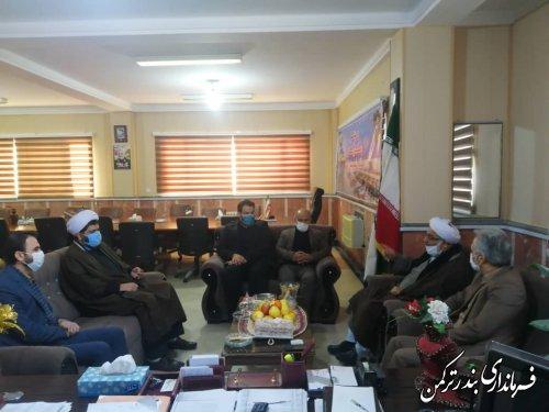 دیدار مدیر کل اوقاف و امور خیریه استان با فرماندار شهرستان ترکمن