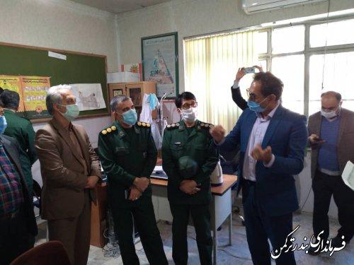 بازدید میدانی فرماندار از پایگاه های عملیاتی اجرای طرح شهید قاسم سلیمانی در سطح شهرستان ترکمن