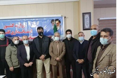 حضور رئیس فدراسیون قایقرانی کشور در شهرستان ترکمن