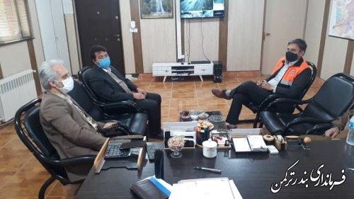 دیدار فرماندار شهرستان ترکمن با رئیس اداره راهداری و حمل و نقل جاده ای شهرستان
