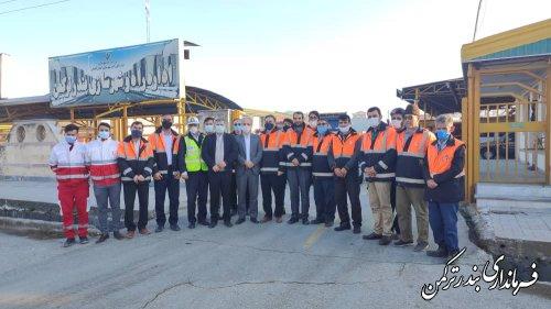 استقرار اکیپ راهداری زمستانی شهرستان ترکمن
