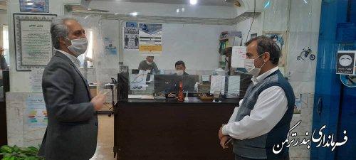 بازدید سرزده فرماندار ترکمن از اداره مخابرات شهرستان