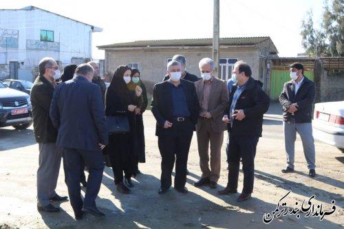 حضور معاون هماهنگی امور عمرانی استاندار در شهرستان ترکمن
