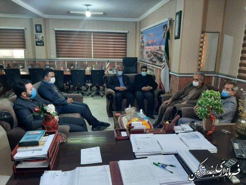 دیدار مدیرکل حراست استانداری  با فرماندار  شهرستان ترکمن