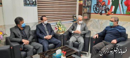 دیدار فرماندار ترکمن با مدیرکل بنیاد شهید و امور ایثارگران استان