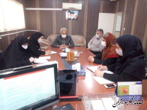 جلسه  شناسایی و نیاز سنجی و اولویت های موضوعات پژوهشی حوزه زنان شهرستان ترکمن برگزار شد