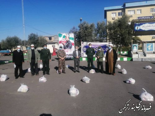 رزمایش همدلی و کمک مومنانه در شهرستان ترکمن