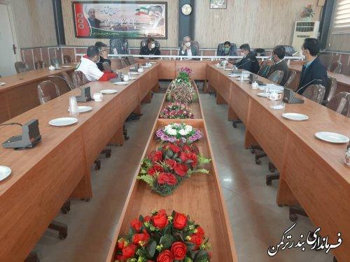 چهارمین جلسه شورای ترافیک شهرستان ترکمن برگزار شد