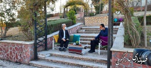 حضور فرماندار شهرستان ترکمن در برنامه زنده صبح عالی سیمای گلستان