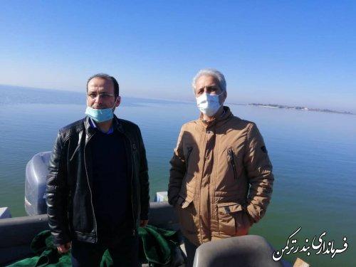 بازدید فرماندار شهرستان ترکمن از خلیج گرگان و کانال آشور و خوزین