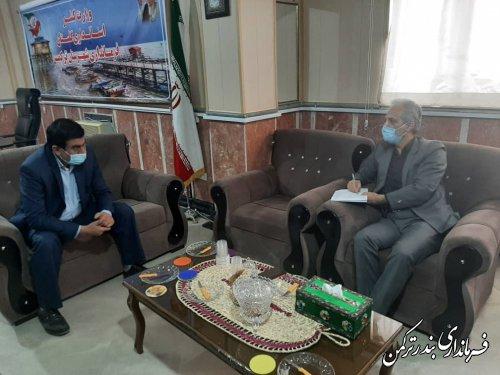 نشست فرماندار ترکمن با مدیر توزیع نیروی برق شهرستان