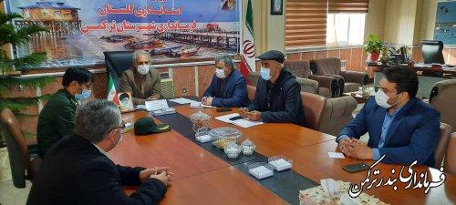 جلسه هماهنگی و برنامه ریزی مراسم رژه خودرویی گرامیداشت روز 22 بهمن شهرستان ترکمن برگزار شد