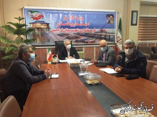 جلسه هماهنگی لیگ تندرستی ایرانیان در شهرستان ترکمن برگزار شد