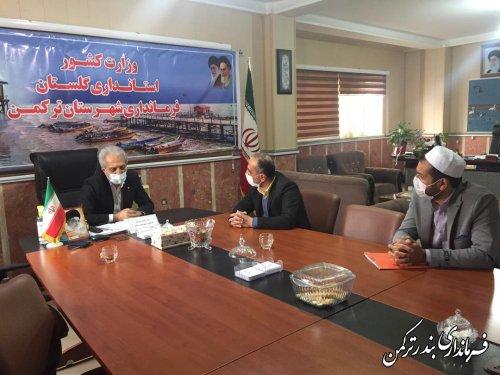 نشست فرماندار ترکمن با مسئول نمایندگی غله و خدمات بازرگانی غرب استان