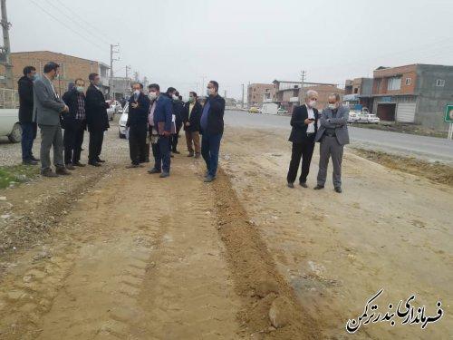 بازدید فرماندار ترکمن و اعضای کارگروه شورای فنی استان از تعدادی از پروژه های نیمه تمام شهرستان