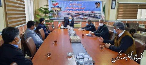 جلسه هماهنگی و توجیهی هیات امنای بازارهای شهرستان ترکمن