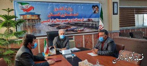 نشست فرماندار ترکمن با بخشداران تابعه شهرستان