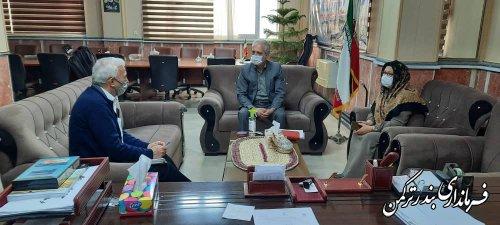 نشست فرماندار شهرستان ترکمن با رئیس هیئت مدیره شرکت هیربدان