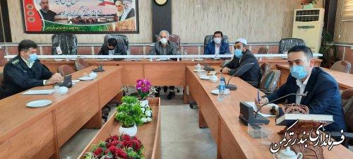 جلسه ستاد مبارزه با قاچاق کالا و ارز شهرستان ترکمن برگزار شد