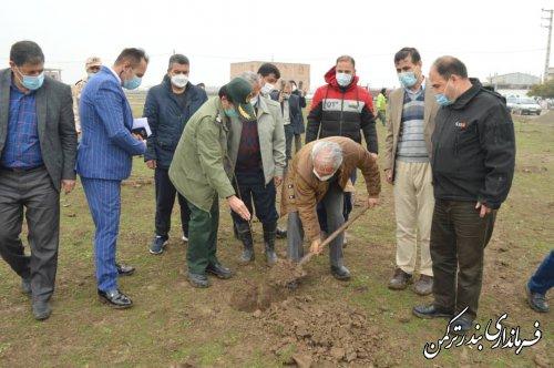مراسم کاشت نهال در شهرستان ترکمن