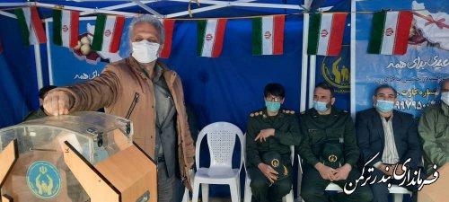 مراسم جشن نیکوکاری در شهرستان ترکمن