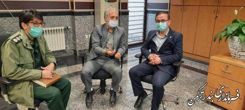 بازدید سرزده فرماندار ترکمن از بانک های سطح  شهرستان