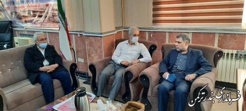 نشست فرماندار ترکمن با رییس هیات نظارت انتخابات شهرستان