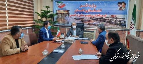 نشست انتخاباتی فرماندار شهرستان ترکمن با بخشداران تابعه