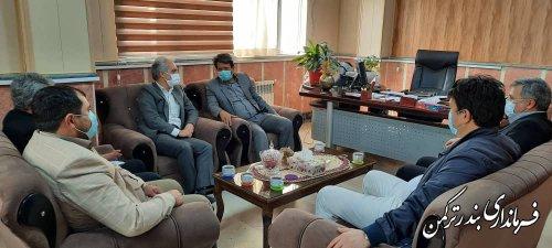 دیدار عضو هیات عالی نظارت انتخابات شوراهای استان با فرماندار ترکمن