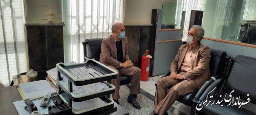 بازدید سرزده فرماندار ترکمن از بانک ملی شهرستان