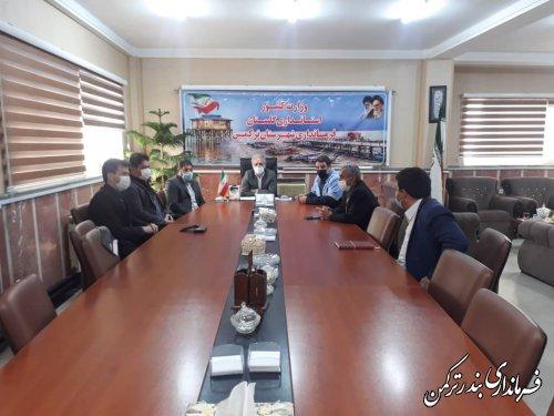 جلسه برنامه ریزی و هماهنگی برگزاری جشنواره روستایی در شهرستان ترکمن برگزار شد