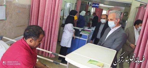 عیادت فرماندار  از بیماران بستری در بیمارستان امام بندرترکمن