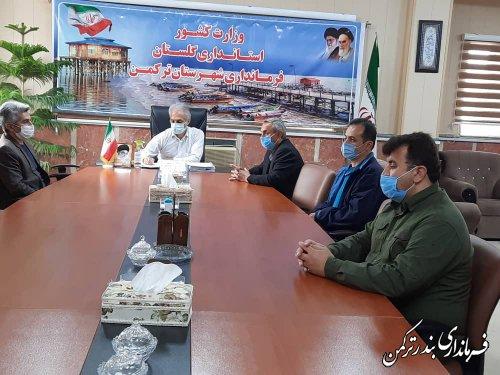 دیدار نوروزی کارکنان اداره محیط زیست شهرستان ترکمن  با فرماندار
