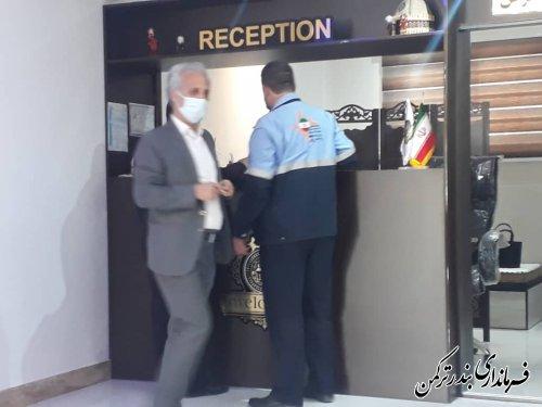 بازدید فرماندار از هتل سه ستاره ترکمن