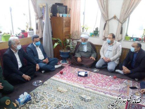دیدار فرماندار و مسئولین شهرستان ترکمن با ائمه جمعه شهرستان