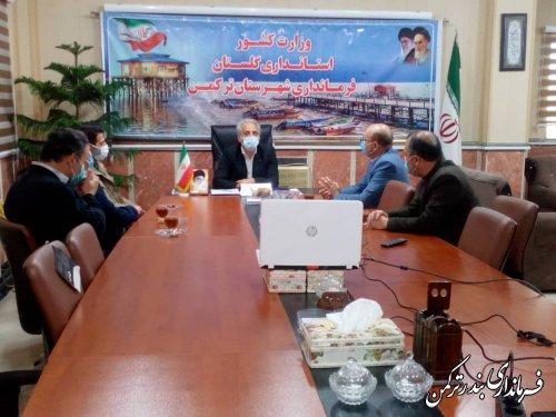 دیدار نوروزی مدیر و کارکنان مرکز آموزش فنی و حرفه ای شهرستان ترکمن با فرماندار