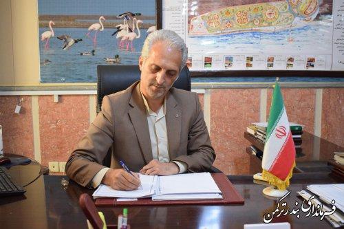پیام تبریک فرماندار ترکمن به مناسبت نیمه شعبان و هفته سربازان گمنام امام زمان(عج)