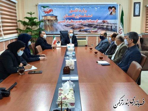 دیدار نوروزی مدیرعامل شرکت آب منطقه ای استان با فرماندار ترکمن