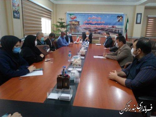 اولین جلسه داخلی کارکنان فرمانداری شهرستان ترکمن در سال 1400 برگزار شد