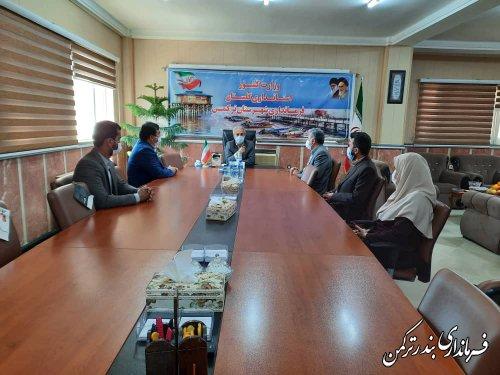 دیدار مدیرکل آموزش و پرورش استان با فرماندار شهرستان ترکمن