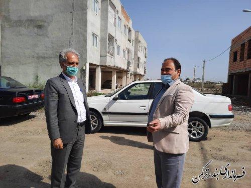 بازدید فرماندار از مسکن مهر راه آهن بندرترکمن