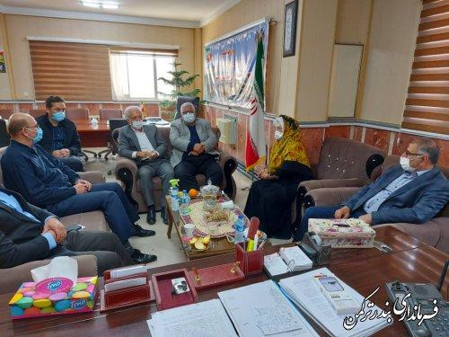 دیدار رئیس و اعضای هیات بازرسی انتخابات شهرستان ترکمن با فرماندار