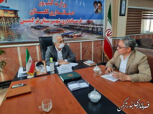 دیدار رئیس هیات نظارت بر انتخابات شوراهای اسلامی شهرستان ترکمن با فرماندار